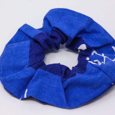 Chouchou taie d'oreiller bleu Bérénice upcycling