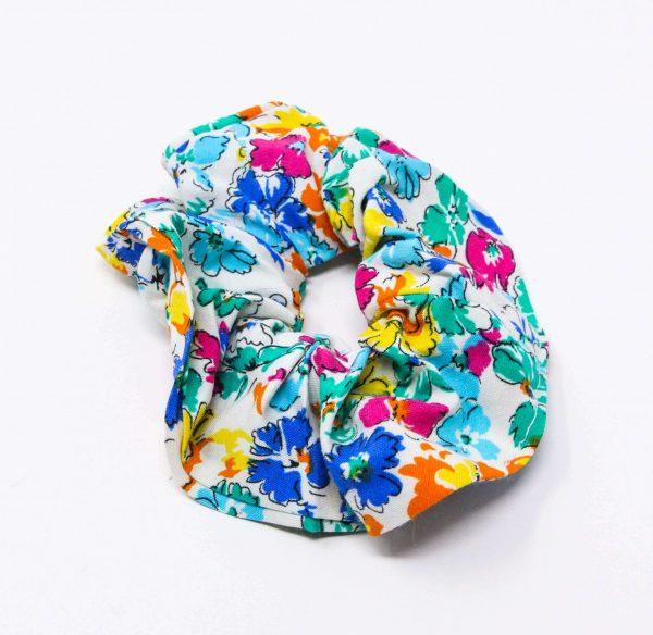 Chouchou chemise multicolore Bérénice upcycling