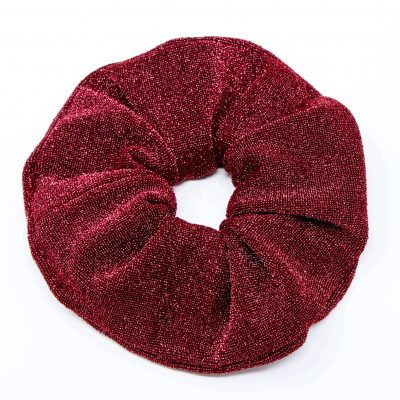 Chouchou robe rouge à paillettes Bérénice upcycling