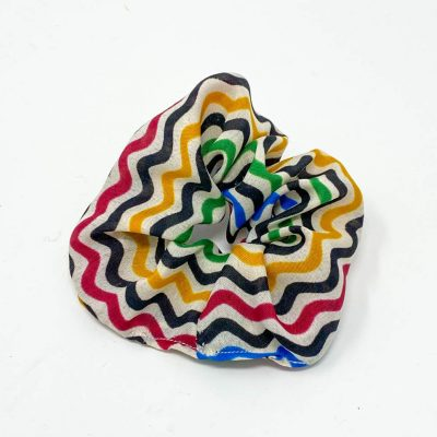 Chouchou robe à motifs multicolores