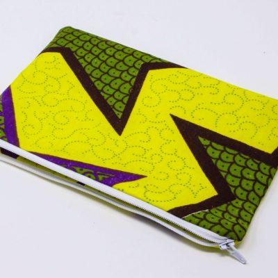 pochette zippée Bérénice upcycling recto